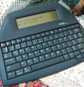Hello this is my Alphasmart Neo